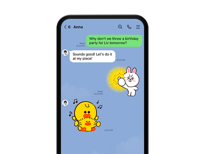 Line mobile chat All of